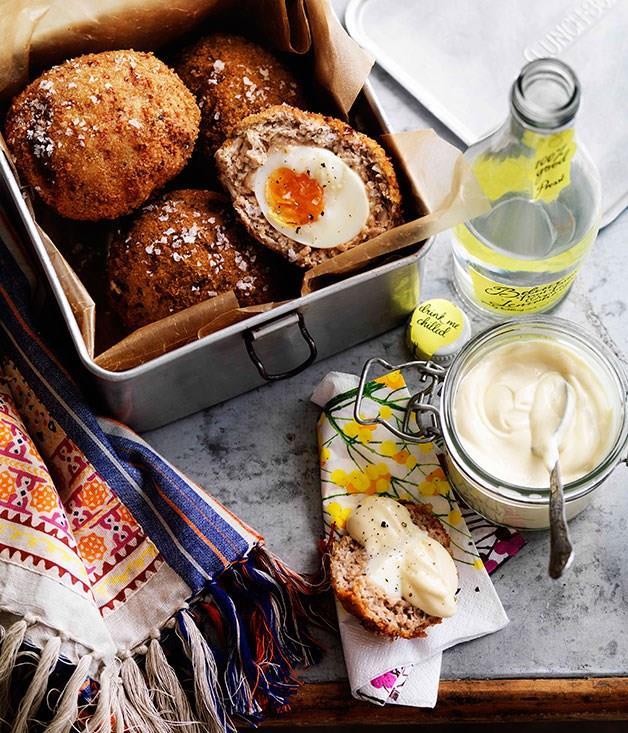 "[**Scotch eggs**](https://www.gourmettraveller.com.au/recipes/browse-all/scotch-eggs-8744|target=""_blank"")"