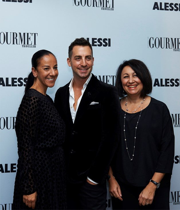 **** Alessi's Nadia Bayfield (left) and Anne Sullivan with stylist Steve Cordony.