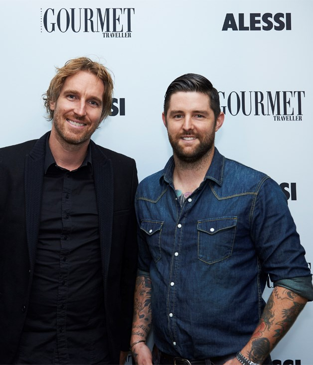 ****  Chefs Darren Robertson (left) and Luke Powell.