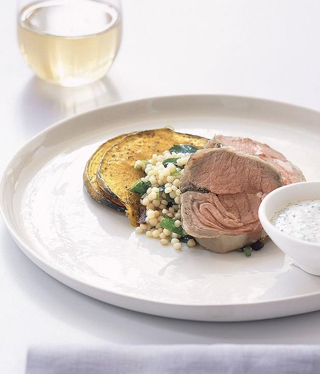 **Roast lamb loin with couscous and pumpkin**
