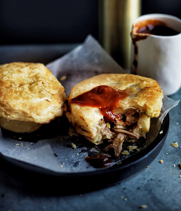 Lamb and anchovy pies