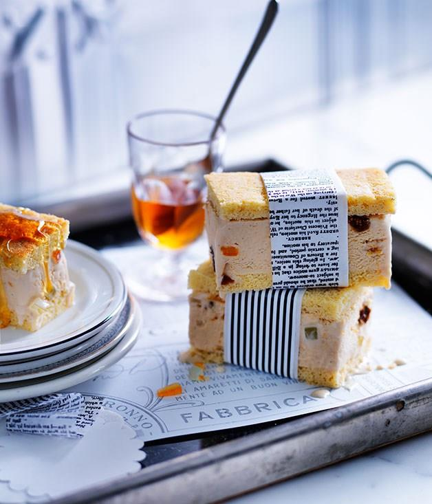 "[**Burnt-honey and ricotta gelato slice**](https://www.gourmettraveller.com.au/recipes/browse-all/burnt-honey-and-ricotta-gelato-slice-11913|target=""_blank"")"