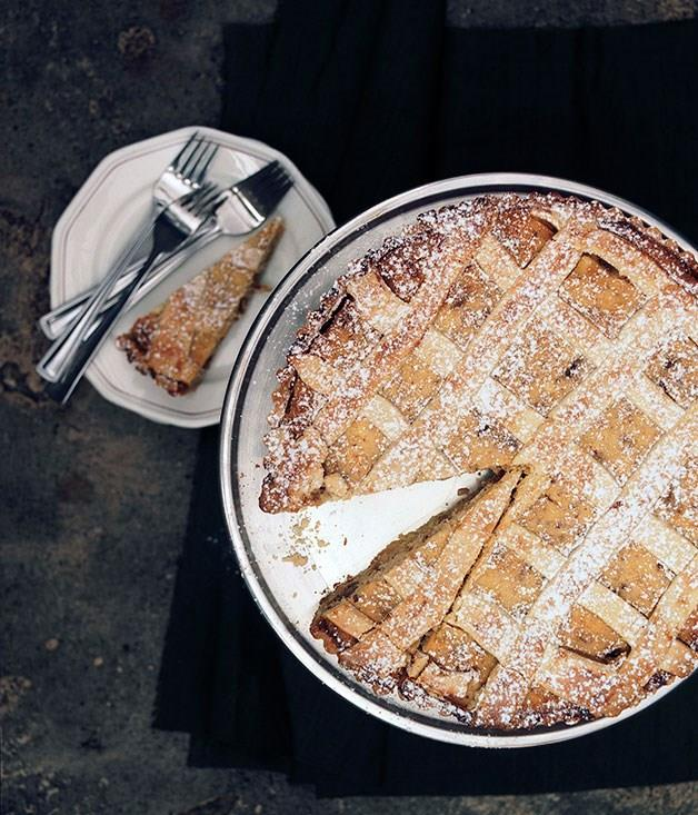 "[**Ricotta tart**](https://www.gourmettraveller.com.au/recipes/chefs-recipes/ricotta-tart-7260|target=""_blank"")"