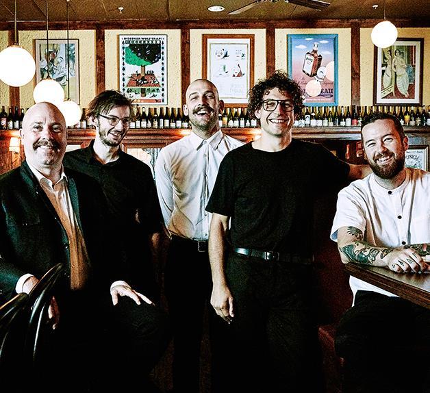 Jason Scott, Andy Tyson, Stefan Forte, Anton Forte and Dan Pepperell of Restaurant Hubert