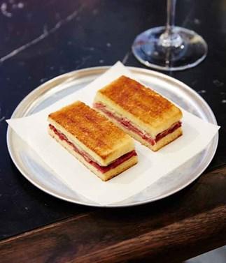 Mercado's wagyu tongue toastie