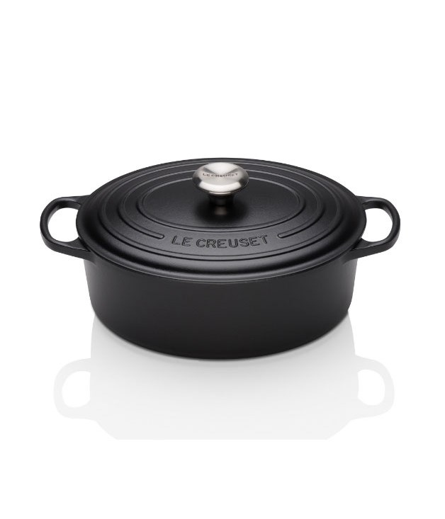 **Le Creuset Black and White Collection (signature cast iron oval casserole 25cm satin black)** French cookware company Le Creuset's monochrome collection of wine accessories and cooking goods are built to last in both style and function. Chic black and white never fades out of style; the enamel interior of the Cast Iron Oval Casserole pot won't fade either (pictured above). _$429, [lecreuset.com.au](https://www.lecreuset.com.au/new-exclusive/black-white-collection)_