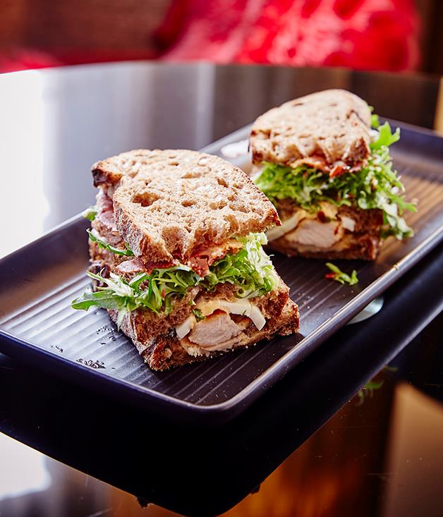 "**Best Club Sandwich 2016: QT Sydney** Delivered in a black wooden box, the QT Sydney club is at once tasteful and tasty. And a little unorthodox: three long planks of barley malt bread layered with turkey, crisp, shattery prosciutto, melting Swiss cheese, aioli and a perfectly soft-boiled egg. As club sandwiches go, it's one of out of the box. [qtsydney.com.au](https://www.qtsydney.com.au ""QT Sydney"")  Finalists:The Langham Sydney, NSW; Crown Towers, VIC."
