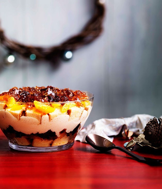 **Boozy winey trifle**
