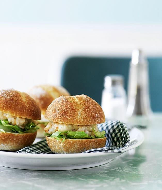 "[**Prawn burgers**](https://www.gourmettraveller.com.au/recipes/browse-all/prawn-burgers-9931|target=""_blank"")"
