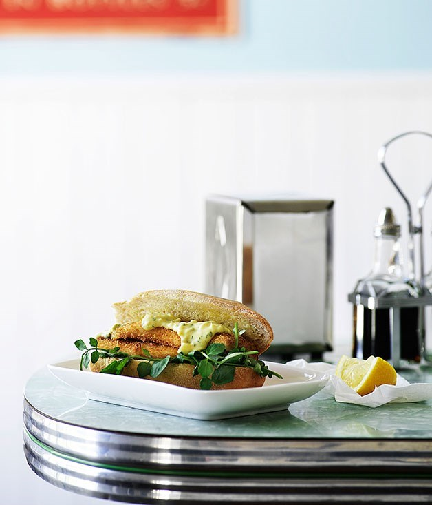 **Whiting and watercress burgers**