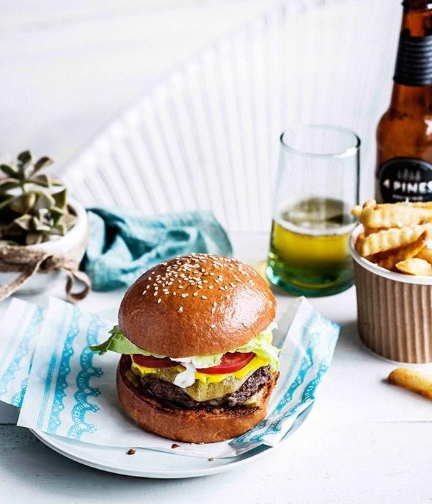 "[**Classic Huxtaburger**](https://www.gourmettraveller.com.au/recipes/browse-all/classic-huxtaburger-13927|target=""_blank"")"
