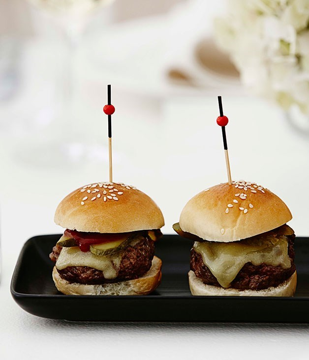 "[**Mini wagyu burgers**](https://www.gourmettraveller.com.au/recipes/browse-all/mini-wagyu-burgers-11674|target=""_blank"")"