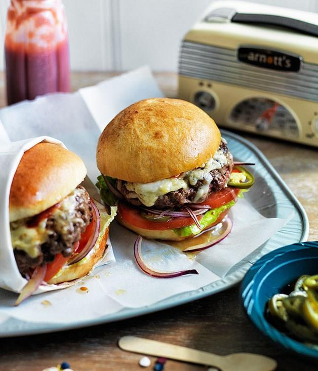 "[**Cheeseburgers**](https://www.gourmettraveller.com.au/recipes/browse-all/cheeseburgers-11746|target=""_blank"")"