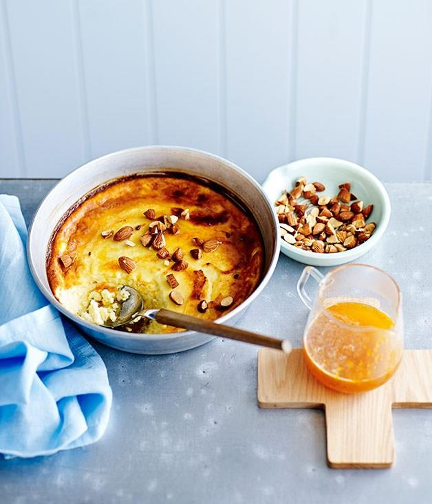 "[**Baked ricotta with honey, orange and almonds**](https://www.gourmettraveller.com.au/recipes/fast-recipes/baked-ricotta-with-honey-orange-and-almonds-13539|target=""_blank""
