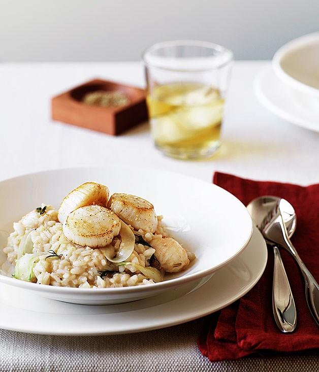 "[**Balmain bug, scallop and fennel risotto**](https://www.gourmettraveller.com.au/recipes/browse-all/balmain-bug-scallop-and-fennel-risotto-with-single-malt-whisky-14259|target=""_blank"")"