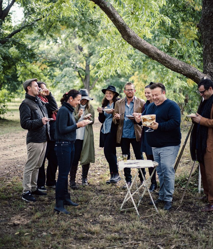 A harvest party with Peter Gilmore