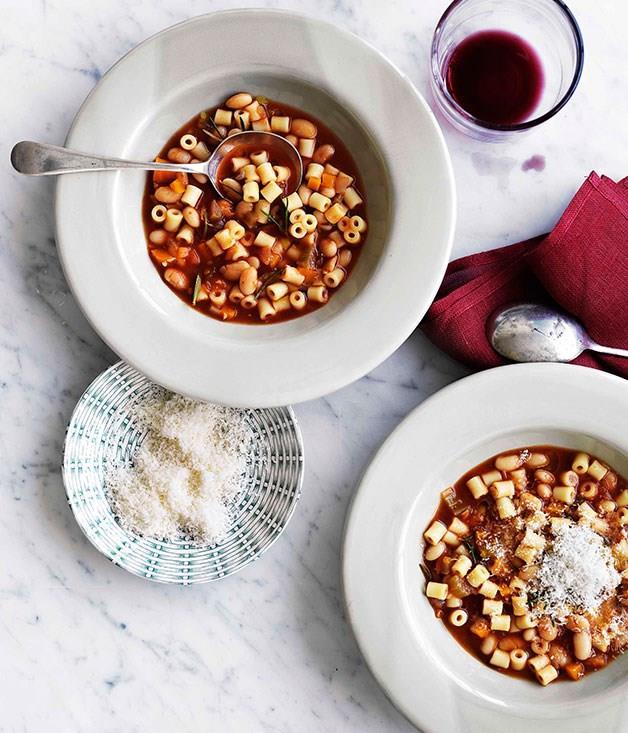 "[**Pasta e fagioli (pasta and beans)**](https://www.gourmettraveller.com.au/recipes/browse-all/pasta-e-fagioli-pasta-and-beans-10752|target=""_blank"")"