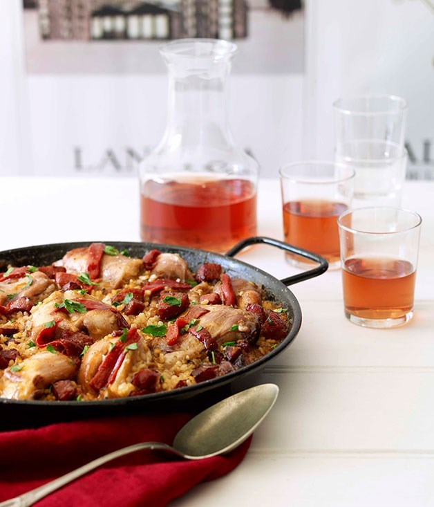 "[**Rabbit paella with rosado**](https://www.gourmettraveller.com.au/recipes/browse-all/rabbit-paella-with-rosado-14264|target=""_blank"")"