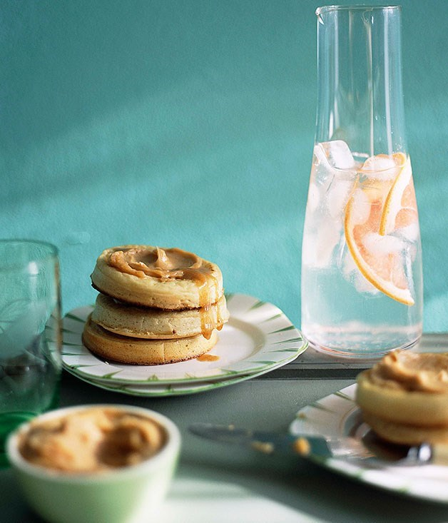 **Crumpets with whipped maple butter**
