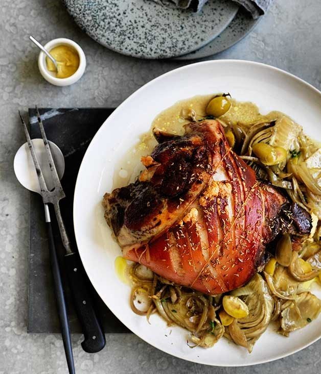 Overnight pork shoulder with fennel