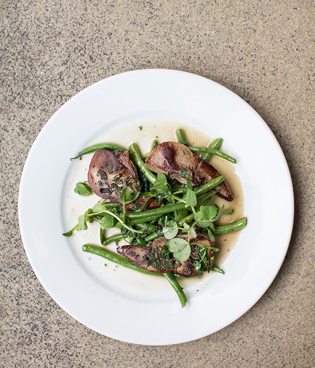 **Rochelle Canteen, Arnold Circus** Rochelle Canteen's lamb's tongue, green beans and green sauce.  _Rochelle School, Arnold Circus, +44 207 729 5677,  [arnoldandhenderson.com](/Rochelle School, Arnold Circus, +44 207 729 5677, arnoldandhenderson.com)_
