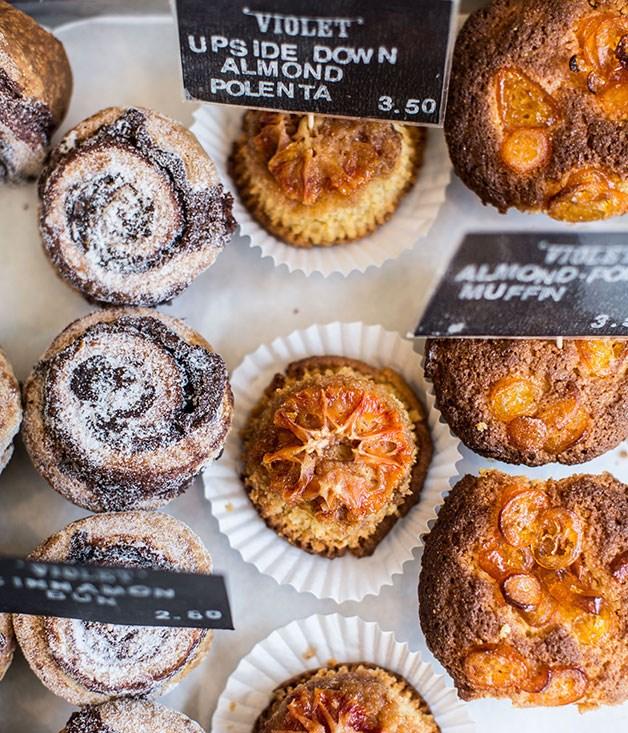 **Violet, Hackney** Baked goods at Violet.  _47 Wilton Way, Hackney, +44 207 275 8360, [violetcakes.com](/violetcakes.com)_