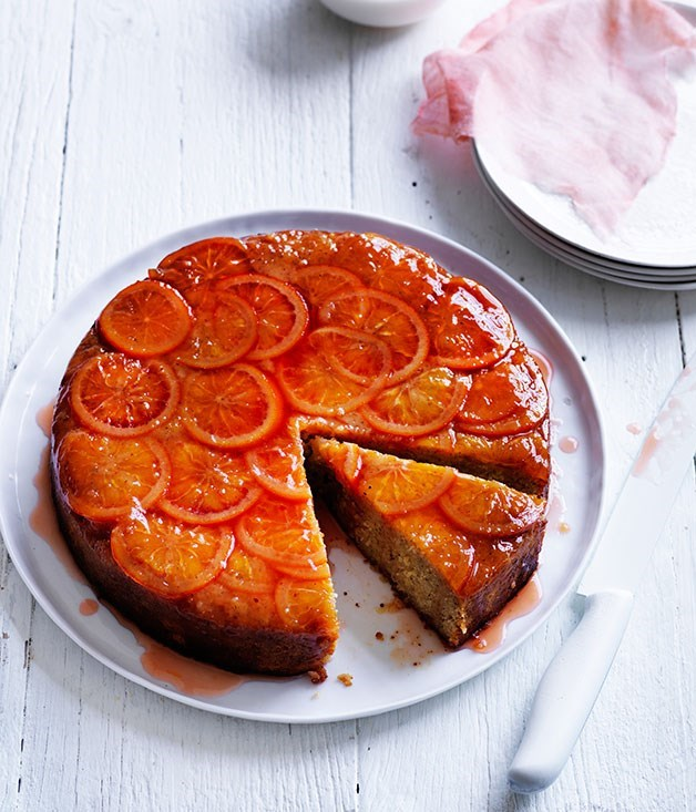 **Blood orange and hazelnut cake**