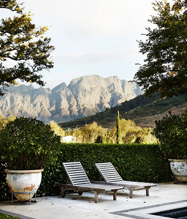 **Drakenstein mountain range** View of the Drakenstein mountain range from the Manor House at Grande Provence.