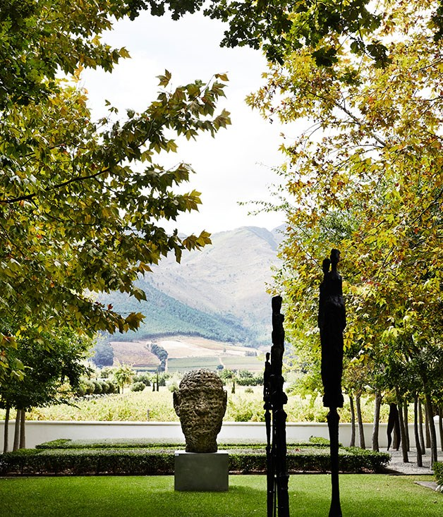 **Sculpture Garden** The sculpture garden at Grande Provence estate.