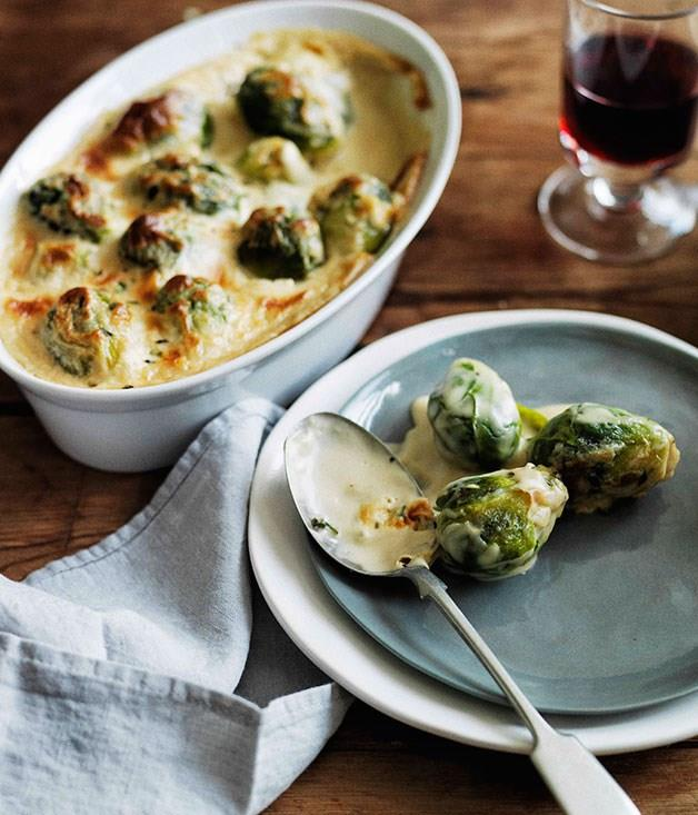 "[**Brussels sprouts gratin**](https://www.gourmettraveller.com.au/recipes/browse-all/brussels-sprouts-gratin-11687|target=""_blank""