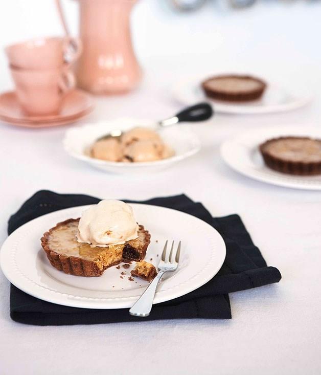 "[**Walnut and Armagnac tart**](https://www.gourmettraveller.com.au/recipes/chefs-recipes/walnut-and-armagnac-tart-8933 target=""_blank"")"
