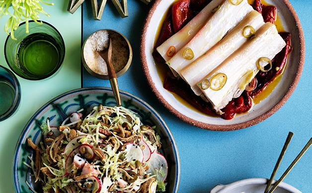 Pork and octopus salad