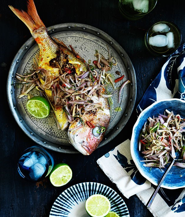 **Barbecued turmeric snapper with sambal matah**