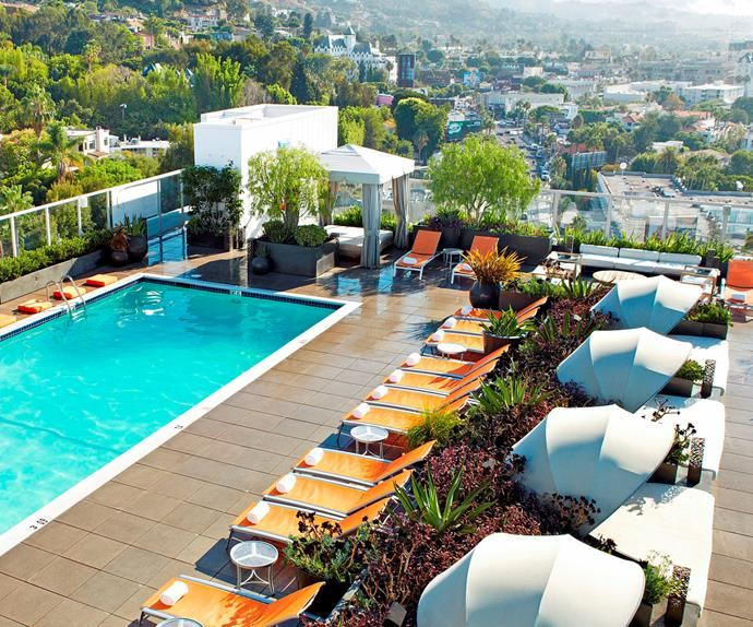 West Hollywood's best rooftop hotel pools