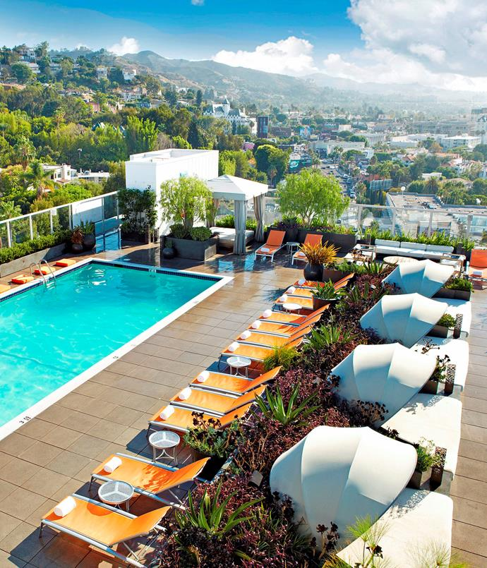 **The Andaz** Settle down in a cabana as you soak up the lights of the Hollywood Hills on one side and Sunset Strip on the other at the Andaz. Think of it as a peaceful go-to rather than a party spot, where you can either sip cocktails or take a yoga class, protected from the hustle and bustle of the outside world.  [westhollywood.andaz.hyatt.com/en/hotel/home.html](http://westhollywood.andaz.hyatt.com/en/hotel/home.html)