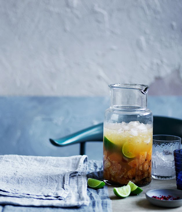 Mandarin and Pink Peppercorn Caipirinha