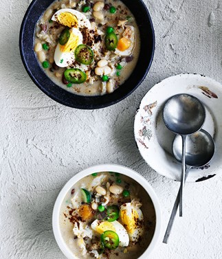 Salt cod and bean soup