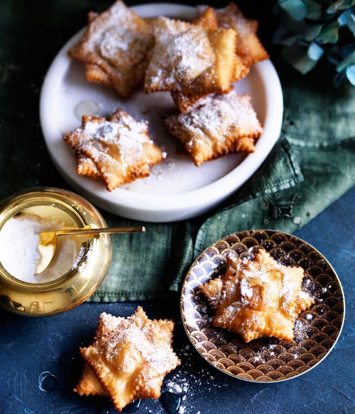 "**[Quince pastelitos](https://www.gourmettraveller.com.au/recipes/browse-all/quince-pastelitos-12566|target=""_blank""|rel=""nofollow"")**"