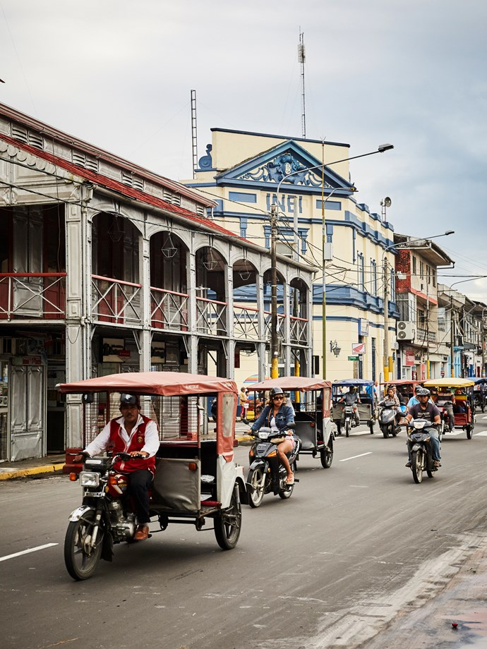 **Peruvian city Iquitos** As an entrance to the jungle lodges and tribal villages of the Amazon, Iquitos is a vibrant Peruvian city.