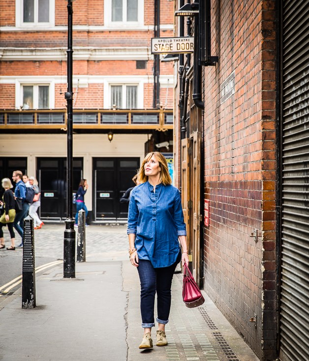 **** Skye Gyngell, head chef at London restaurant Spring, walks through Soho.