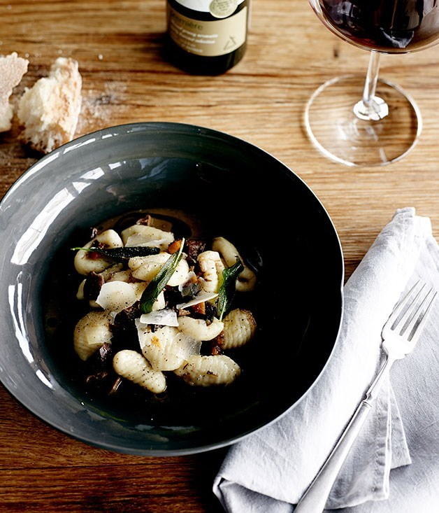 "**[Gnocchi with pigeon and marsala ragù](https://www.gourmettraveller.com.au/recipes/chefs-recipes/gnocchi-with-pigeon-and-marsala-ragu-8019|target=""_blank"")**"