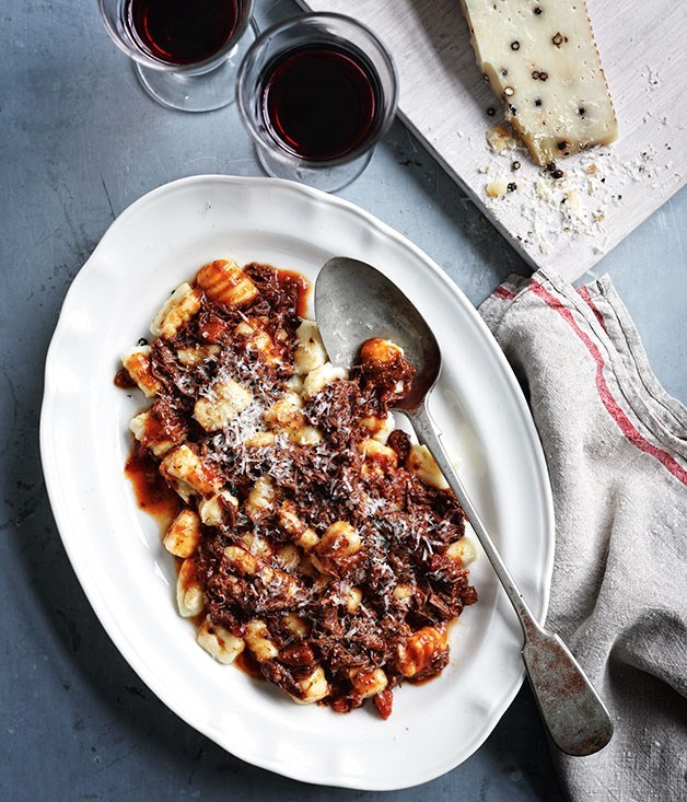 "**[Gnocchi with short rib ragù](https://www.gourmettraveller.com.au/recipes/browse-all/gnocchi-with-short-rib-ragu-14160|target=""_blank"")**"