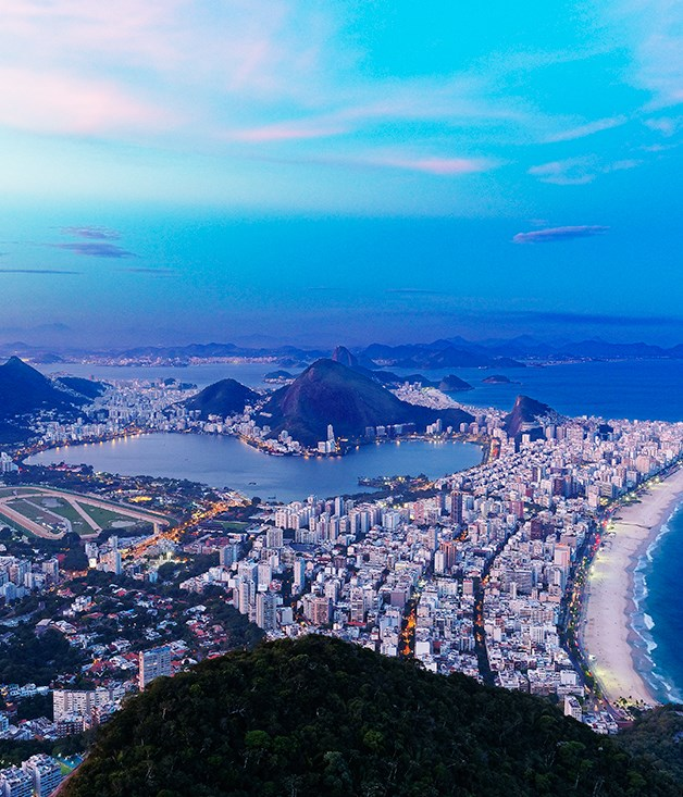 **Rio from above** The view over Rio and the Rodrigo de Freitas Lagoon from the Dois Irmãos (Two Brothers Mountain).