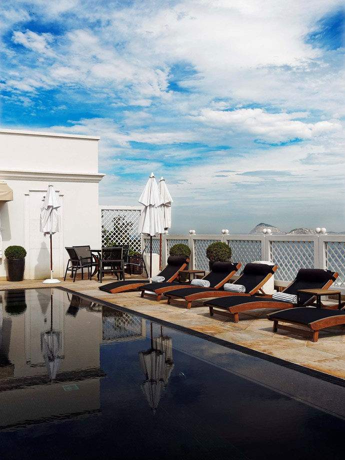 **Penthouse pool, Copacabana Palace** The exclusive penthouse pool topping Rio's grand dame, Copacabana Palace hotel.  _Belmond Copacabana Palace, Ave. Atlântica 1702, +55 21 2548 7070,[copacabanapalace.com.br](http://www.belmond.com/pt-br/copacabana-palace-rio-de-janeiro/)_