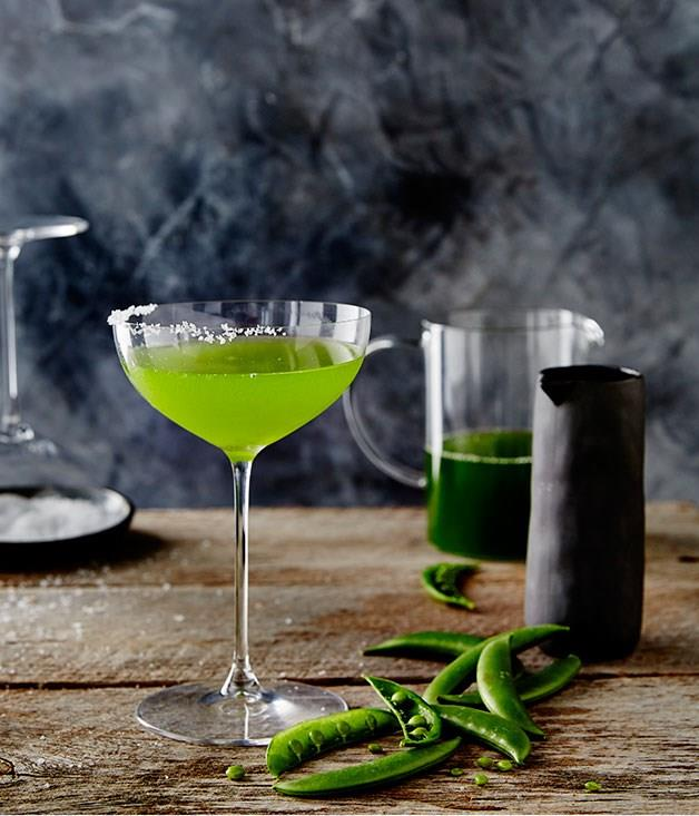 "**[Pink Moon Saloon's Sugar Pea Southside](https://www.gourmettraveller.com.au/news/drinks-news/pink-moon-saloons-sugar-pea-southside-6590|target=""_blank"")** <br> A vibrant green cocktail made with savoury sugar snap peas, aromatic gin and lemon."