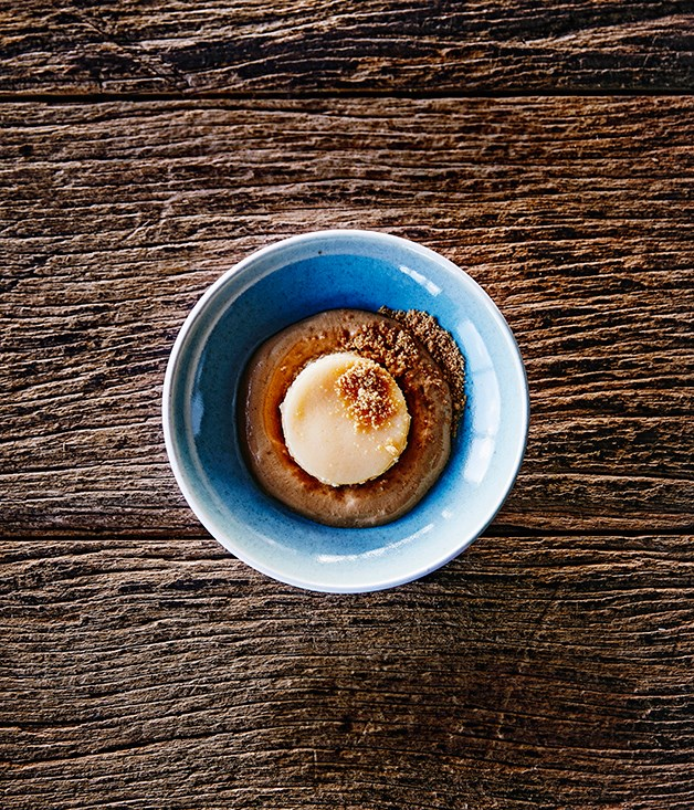 Shannon Bennett's steamed lemon delicious pudding with Nespresso coffee mousse