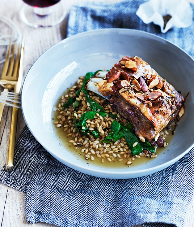 Templo's lamb belly with pearl barley