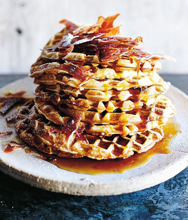"**[Waffles](https://www.gourmettraveller.com.au/recipes/chefs-recipes/waffles-8297|target=""_blank"")**"