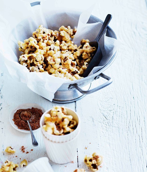 "**[Spiced maple-caramel popcorn](https://www.gourmettraveller.com.au/recipes/browse-all/spiced-maple-caramel-popcorn-11289|target=""_blank"")**"