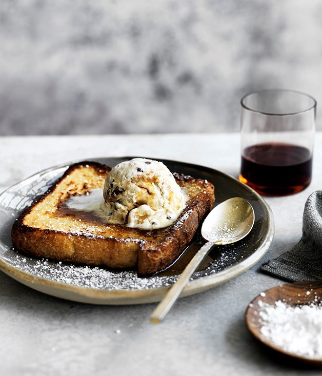 "**[French toast](https://www.gourmettraveller.com.au/recipes/fast-recipes/french-toast-13704|target=""_blank"")**"